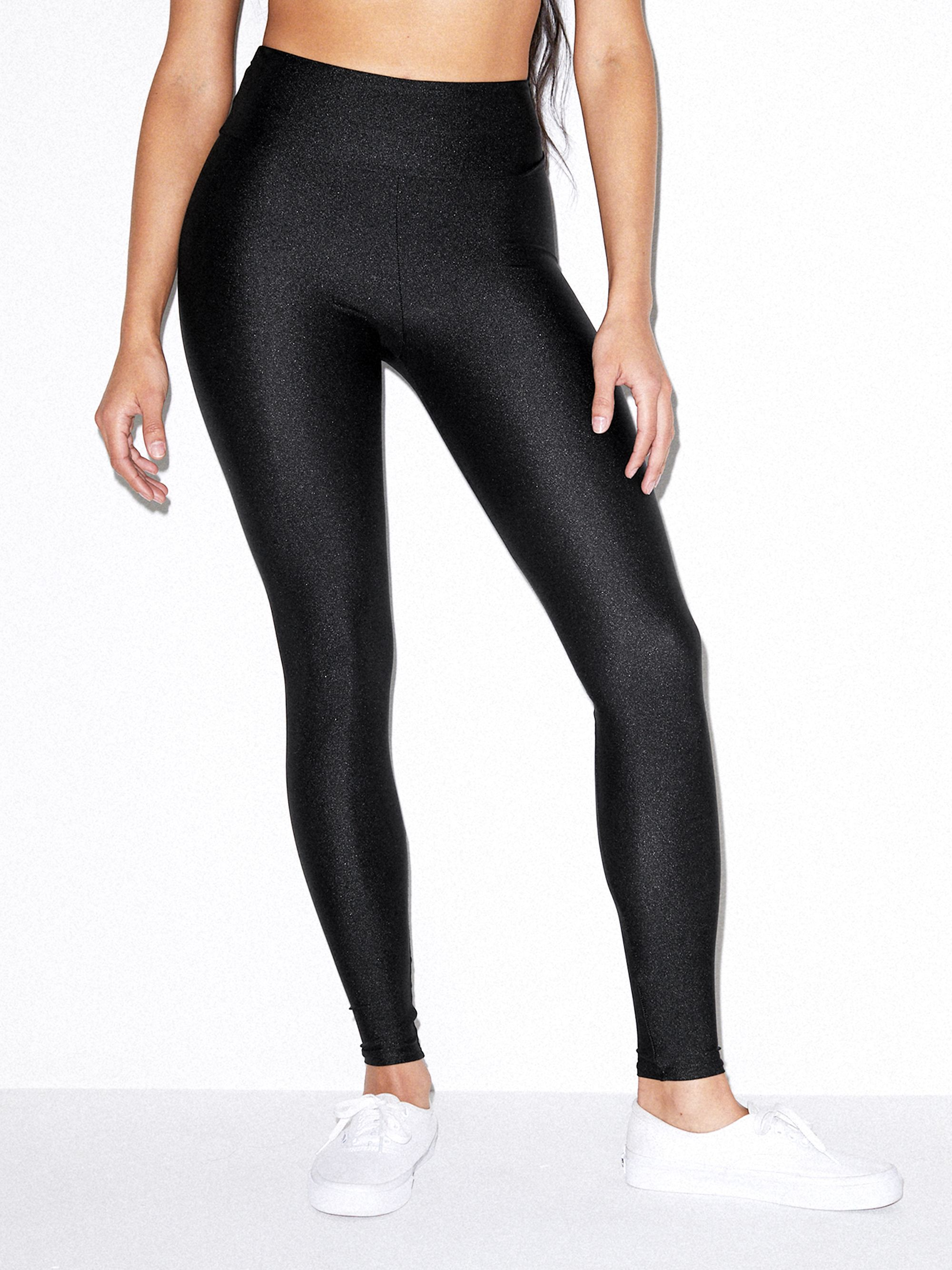 Nylon Tricot High Waist Legging | Tuggl