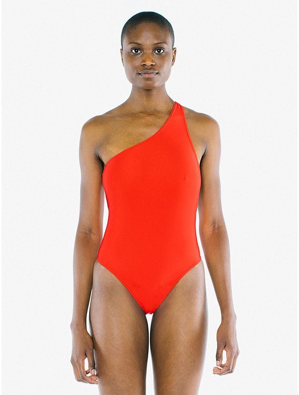 Nylon Tricot One Shoulder One Piece