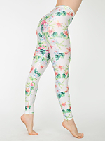 Flamingo Print Nylon Leggings