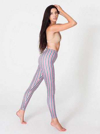 Stripe Nylon Leggings