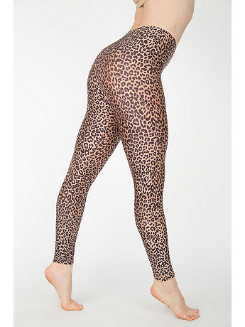 Cheetah Print Nylon Leggings