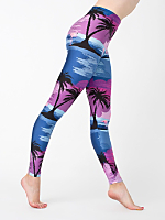 Flamingo Sunset Nylon Leggings