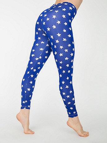 Star Print Nylon Leggings