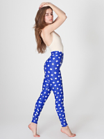 Star Print Nylon Leggings