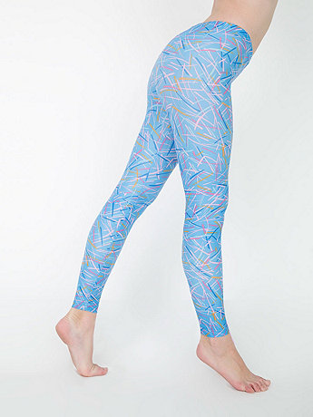 Rhymer Print Nylon Leggings