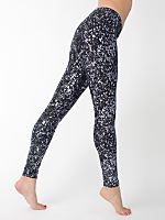 Splatter Print Nylon Leggings