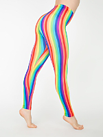 Rainbow Print Nylon Leggings