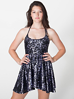 Printed Nylon Tricot Figure Skater Dress