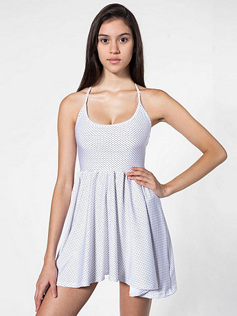 Polka Dot Nylon Tricot Figure Skater Dress