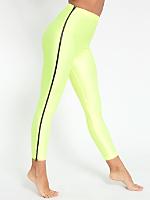 Nylon Tricot High-Waist Zipper Legging