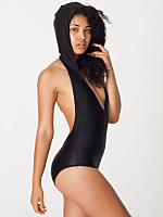 Nylon Tricot Hooded Swimsuit
