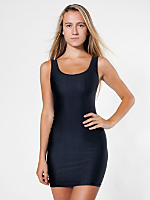 Nylon Tricot Tank Pencil Dress
