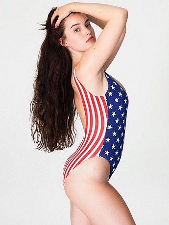 US Flag Print Malibu Swimsuit