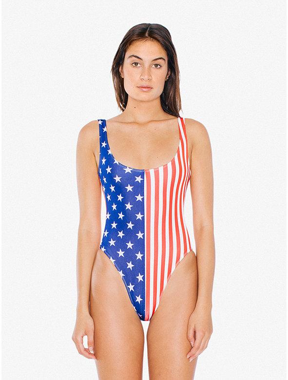 US Flag Tank One-Piece 'Malibu' Swimsuit
