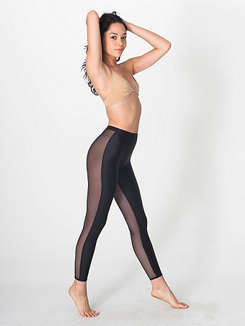 Nylon Tricot Micro-Mesh Two-Sided Legging