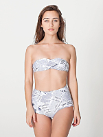 Editorial Print Nylon Tricot High-Waist Swim Brief