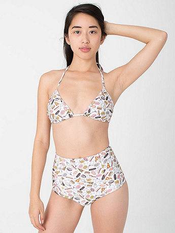 Junk Food by Louise Erhard Nylon Tricot High-Waist Brief