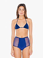 Micro-Mesh Nylon Tricot High-Waist Brief