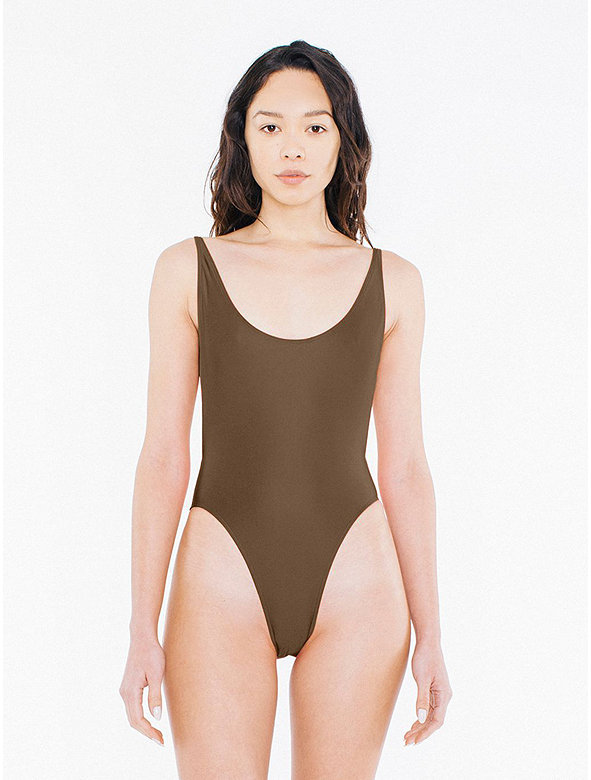 The Nylon Tricot High-Cut One-Piece