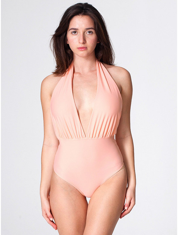The Nylon Tricot Halter One-Piece