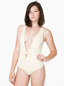 Plunging One-Piece Swimsuit