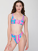 Starfish Print High Rise Bikini Bottom