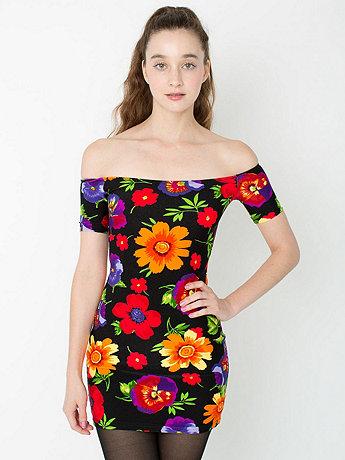 Floral Femme Off Shoulder Dress