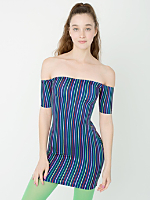 Rainbow Femme Off Shoulder Dress