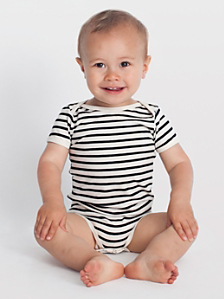 Infant Stripe Short Sleeve One-Piece