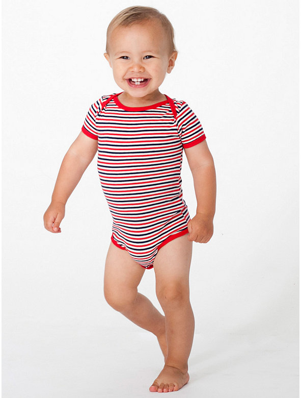 Infant Stripe Short Sleeve One-Piece