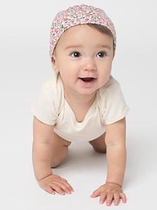 Floral Print Infant Hat