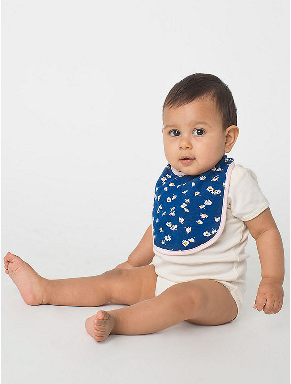 Floral Print Infant Reversible Bib
