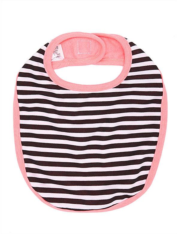 Striped Infant Reversible Bib