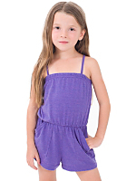 Kids Tri-Blend Pocket Romper