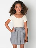 Kids Gingham Full Woven Skirt