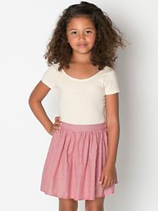 Kids' Gingham Full Woven Skirt
