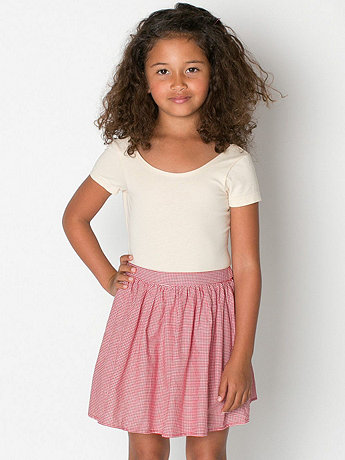 Kids Gingham Full Woven Skirt