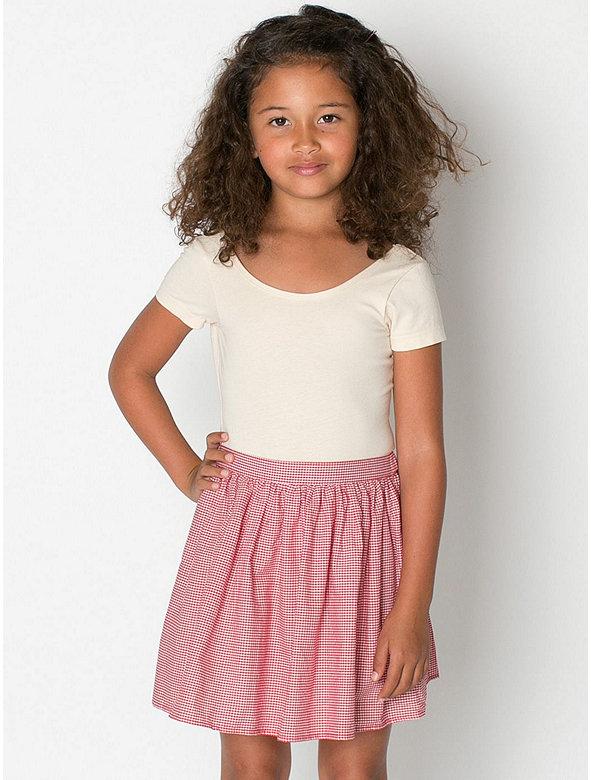 Kids' Gingham Full Woven Skirt