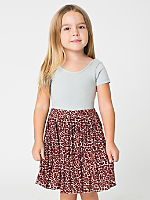 Leopard Print Kids Full Woven Skirt