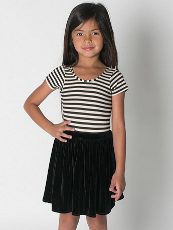 Kids Velvet Full Woven Skirt