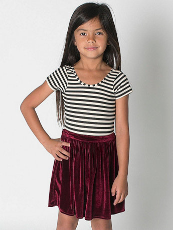 Kids' Velvet Full Woven Skirt