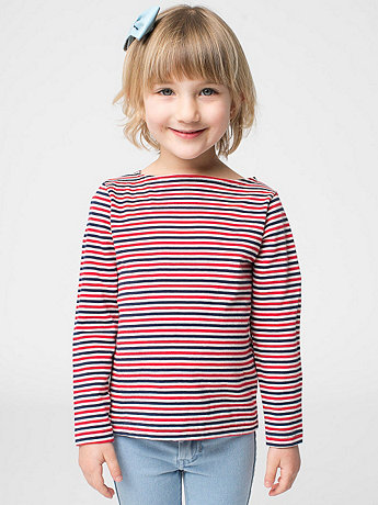 Kids Longsleeve Boat Neck Shirt