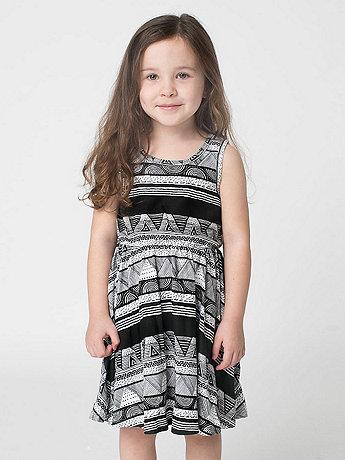 Afrika Print Kids Skater Dress