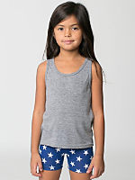 Kids Printed Cotton Spandex Cycle Short