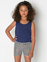 Kids' Printed Cotton Spandex Cycle Short