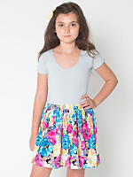 Printed Youth Full Woven Skirt