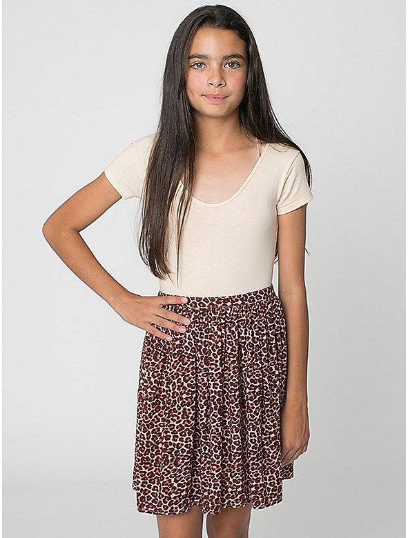 Leopard Youth Full Woven Skirt