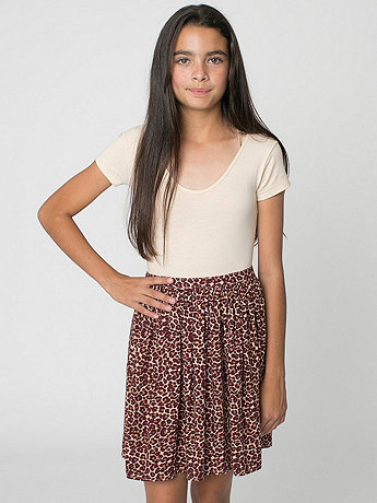 Leopard Youth Full Woven Skirt