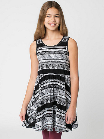 Afrika Print Youth Skater Dress