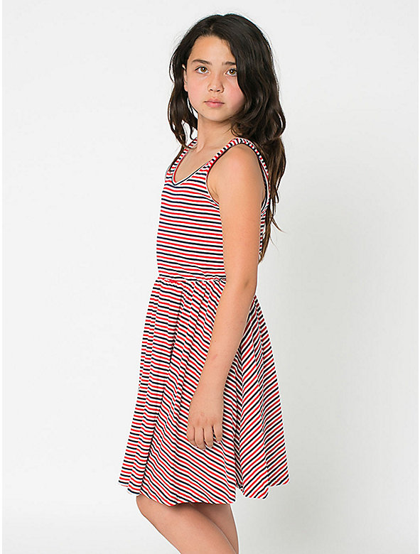 Striped Youth Skater Dress